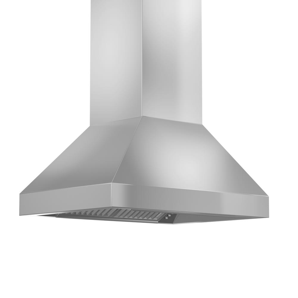 Zline 36 In 900 Cfm Outdoor Island Mount Range Hood In Stainless Steel 597i 304 36 The Home Dep Stainless Steel Island Stainless Range Hood Kitchen And Bath