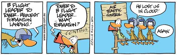 Some days are trying for Air Traffic Control! #airtrafficcontrol #funny #tower #cartoon #swamp http://www.swamp.com.au/search.php?s=9850