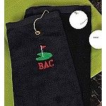 Personalized Golf Towel, personalized groomsmen gift, personalized gift for the men, personalized golf gift $20