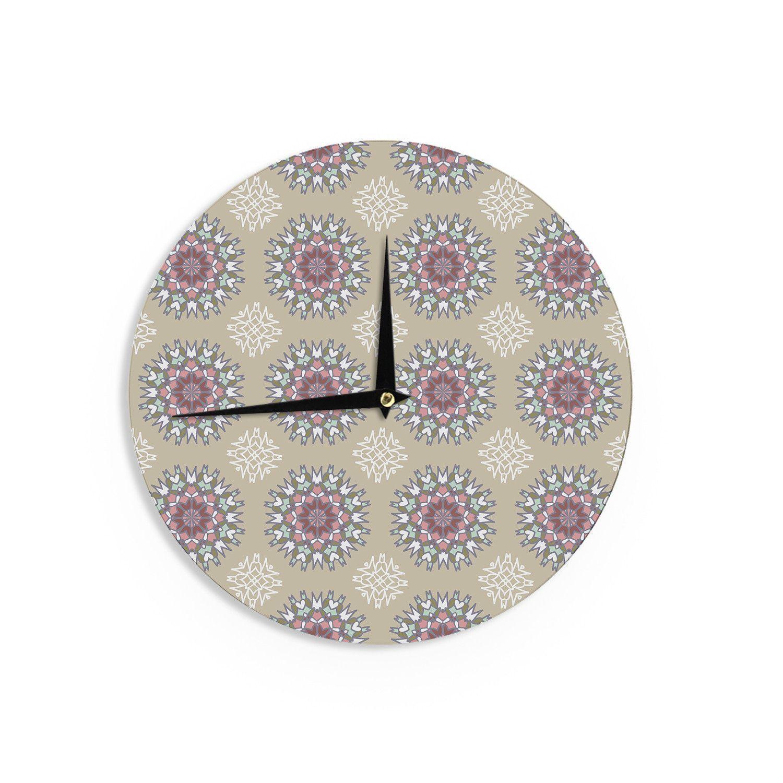 """Nika Martinez """"Princess"""" Pink Abstract Wall Clock"""