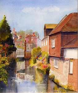 Canterbury Painting - Along The Stour Canterbury by Beatrice Cloake