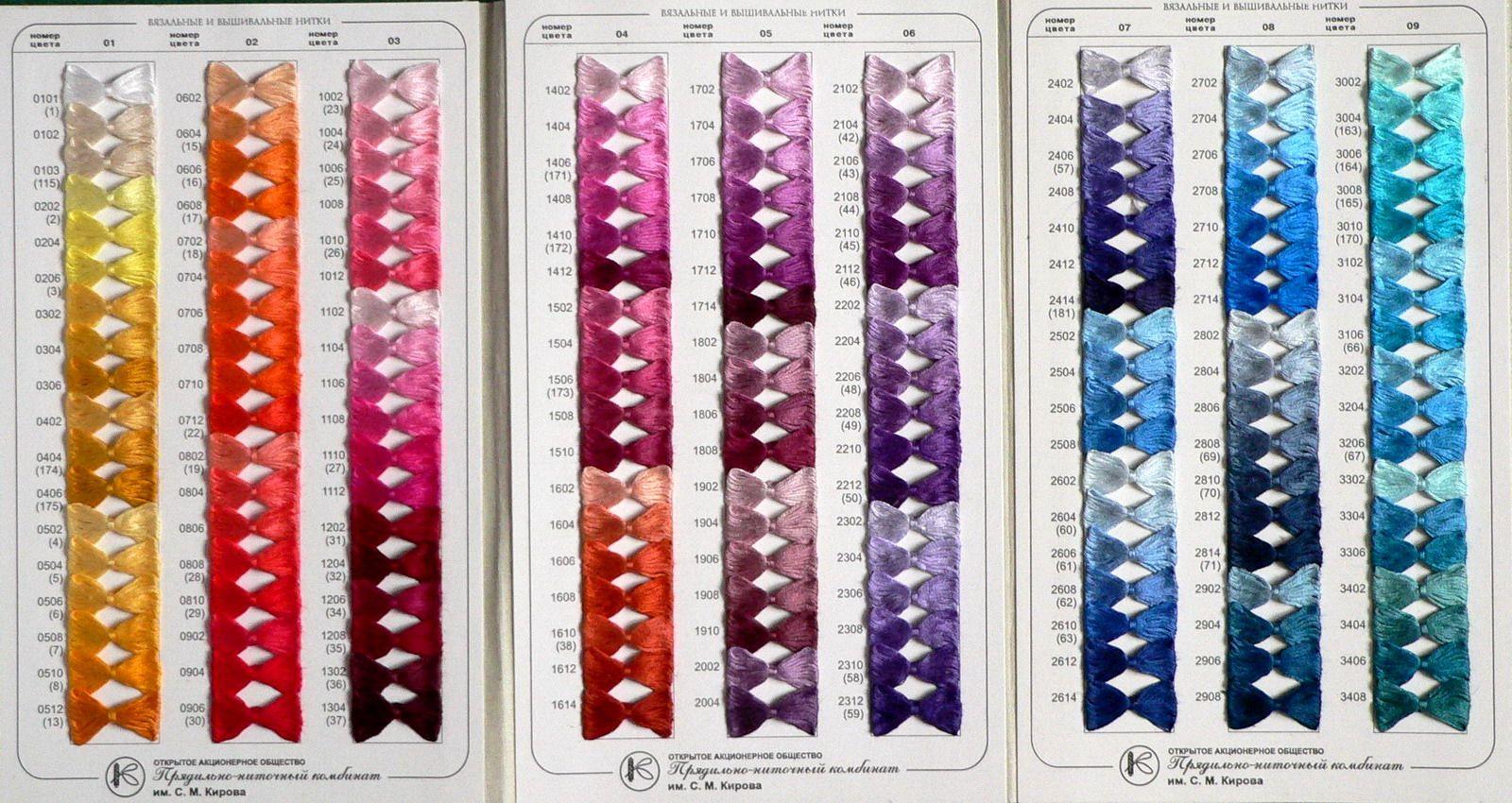 Мулине петербурженка карта цветов иглы для работы с бисером