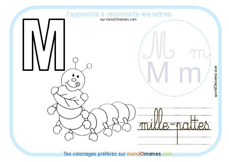 Coloriage Alphabet Cursive.Coloriage Alphabet Lettre M Alphabet Education