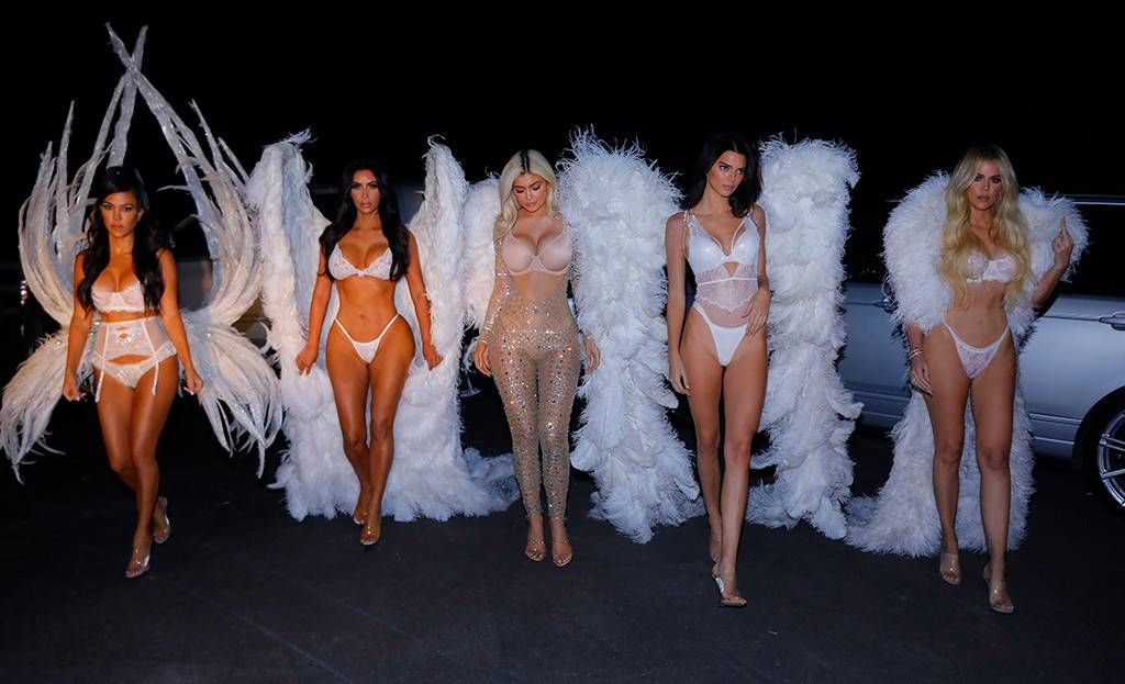 Kardashian Jenner Halloween 2020 Angels Runway Ready from Kylie Jenner's Halloween Costumes Through the Ye