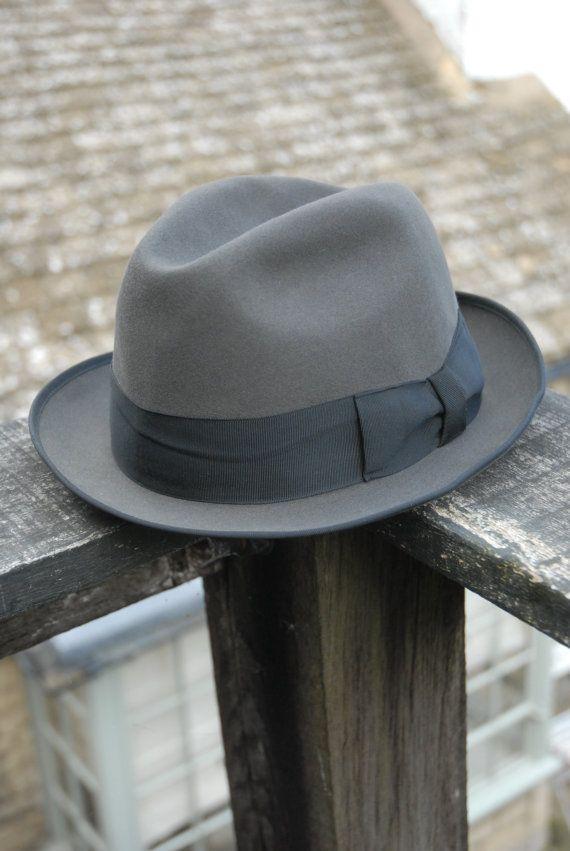 343e37ae72f35e Vintage 60's Wegener Colonel Grey Fur Felt by TheVintageHatCo Trilby Hat,  Suit Accessories, Mens