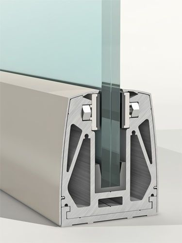 Aluminum Fastening System For Panels Railing Clamp Profile B