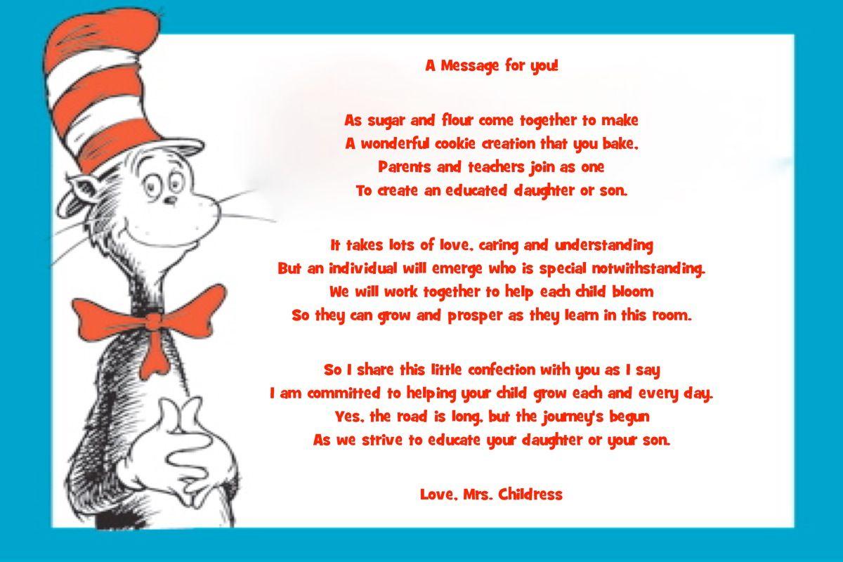 Attach Poem To Sugar Cookie For Parents Parent