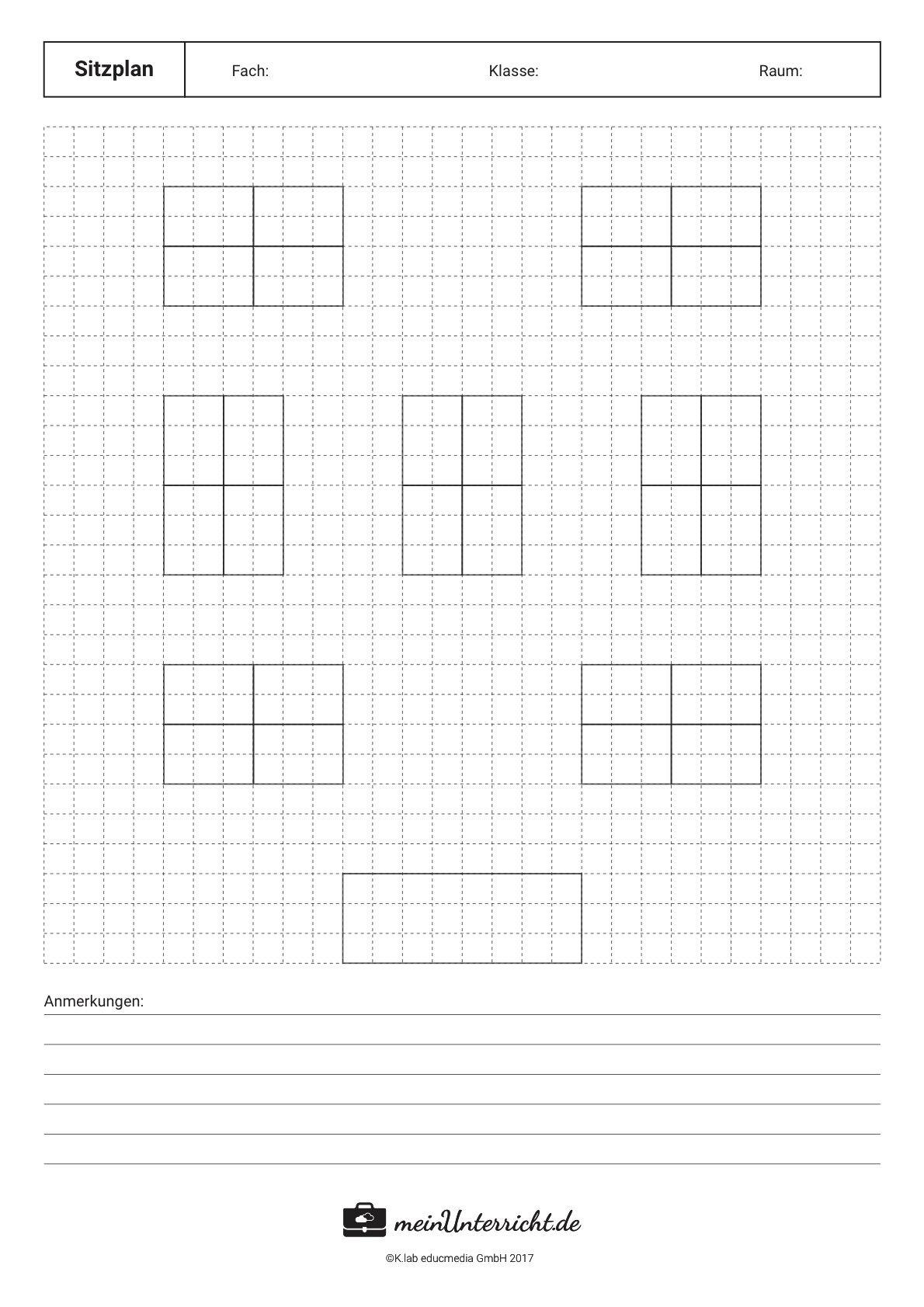 Sitzordnungen Im Vergleich Vorlagen Meinunterricht De Klassenzimmer Gestalten Grundschule Sitzplan Klassenzimmer Sitzordnung