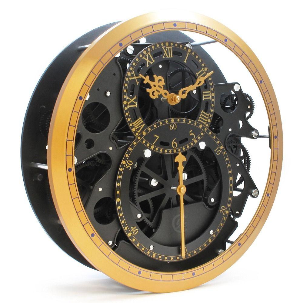 Wall Clock Moving Gears Atcsagacity Com