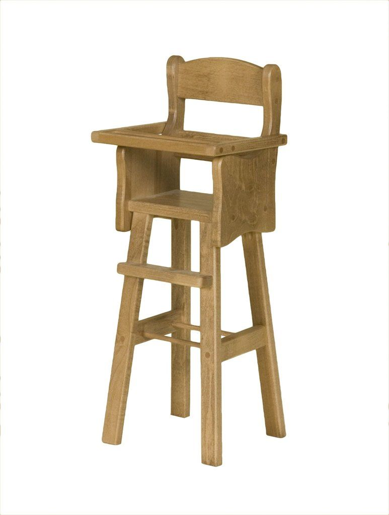 amish made wooden doll high chair house backyard playground rh pinterest com High Chairs Amish Made High Chairs Amish Made