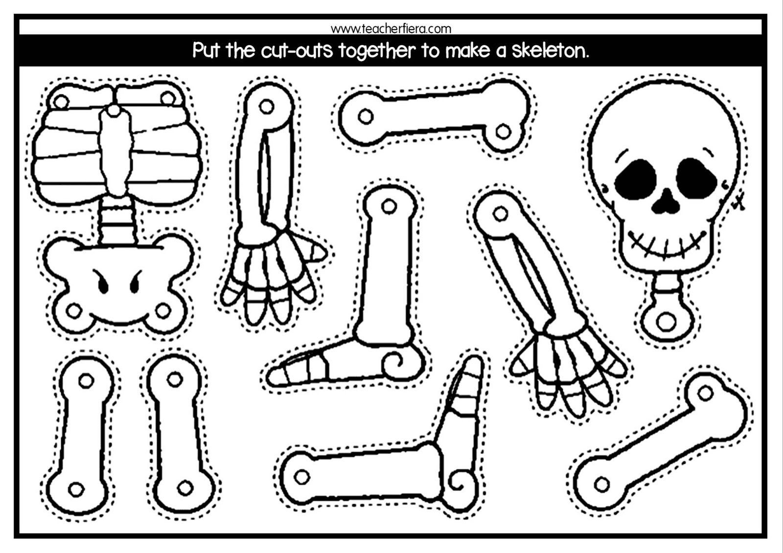 Build A Skeleton Worksheet   Printable Worksheets and Activities for  Teachers [ 1131 x 1600 Pixel ]