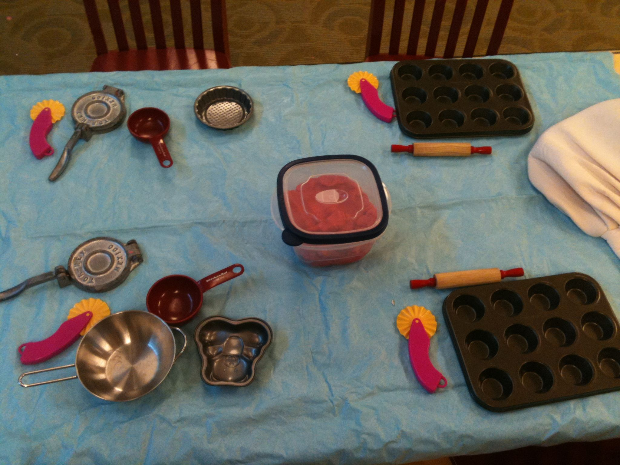 Play Dough With Baking Tools The Kids Made Muffins