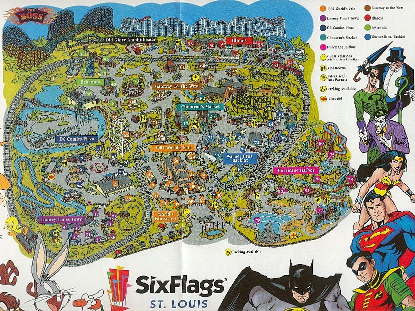 Six Flags St Louis We Live 30 Minutes From Here So We Visit Often During The Summer Months They Also Have A Water Park St Louis Six Flags Six Flags Old Glory
