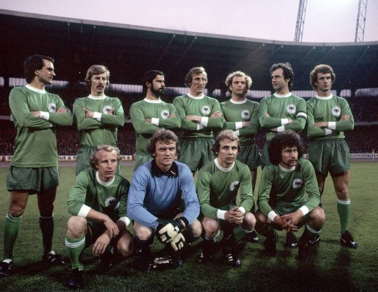 West Germany reunited their famous 1974 World Cup winning side for Wolfgang Overath's farewell ...