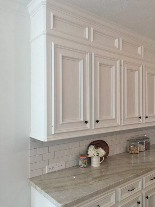 After Modified Cabinetry With New Knife Hinges Replacing Exposed Hinges Kitchen Cabinets Hinges Kitchen Soffit Cabinetry Design