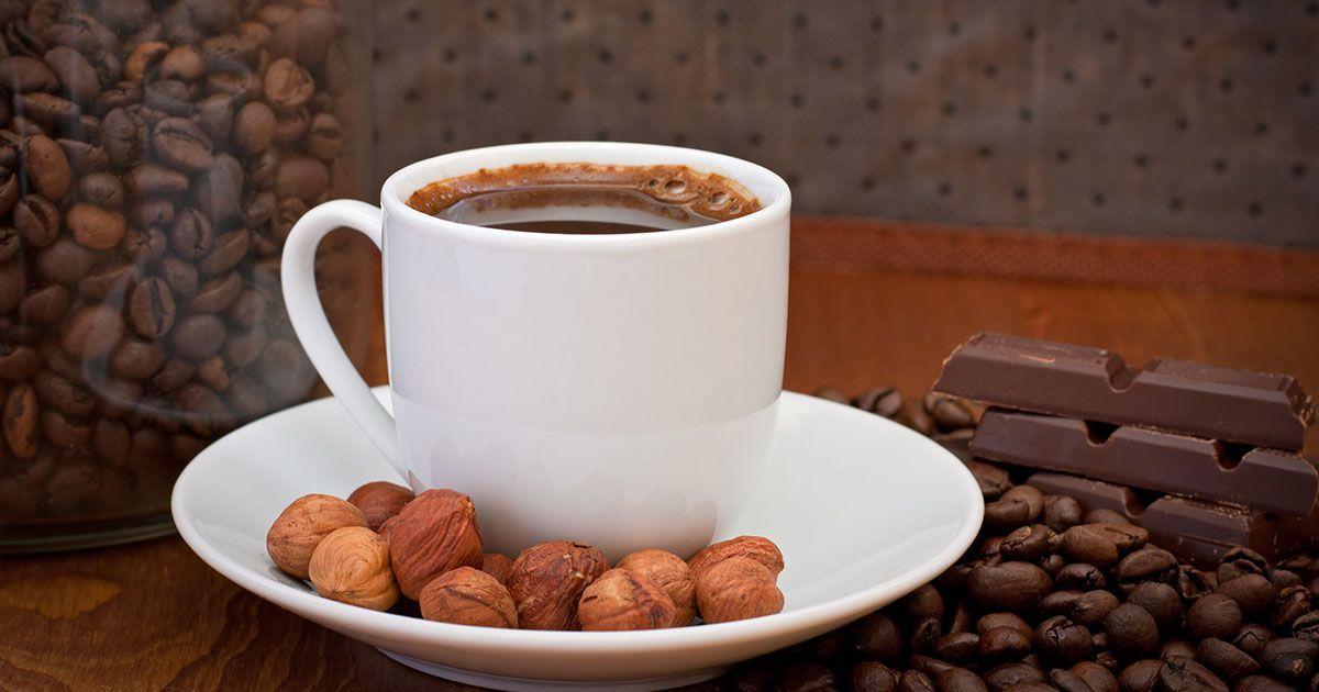 طريقة القهوة الفرنسية بالبندق Recipe Chocolate Almonds Coffee Recipes Sugar Free Recipes