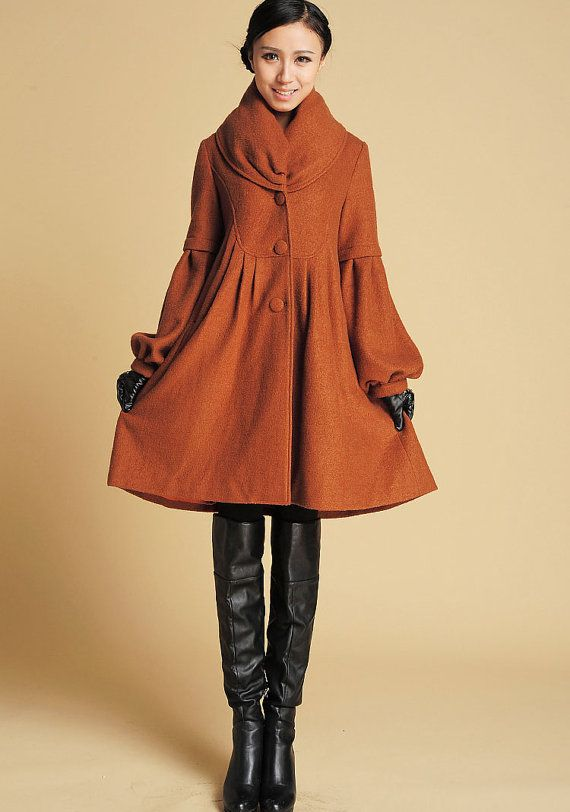 Brown Jacket, wool Coat, wool jacket, winter coat, dress coat ...