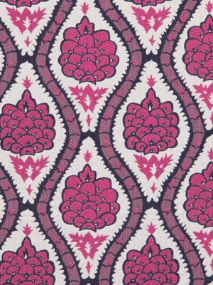 Fuchsia Floral Upholstery Fabric Modern Pink Floral Fabric By The