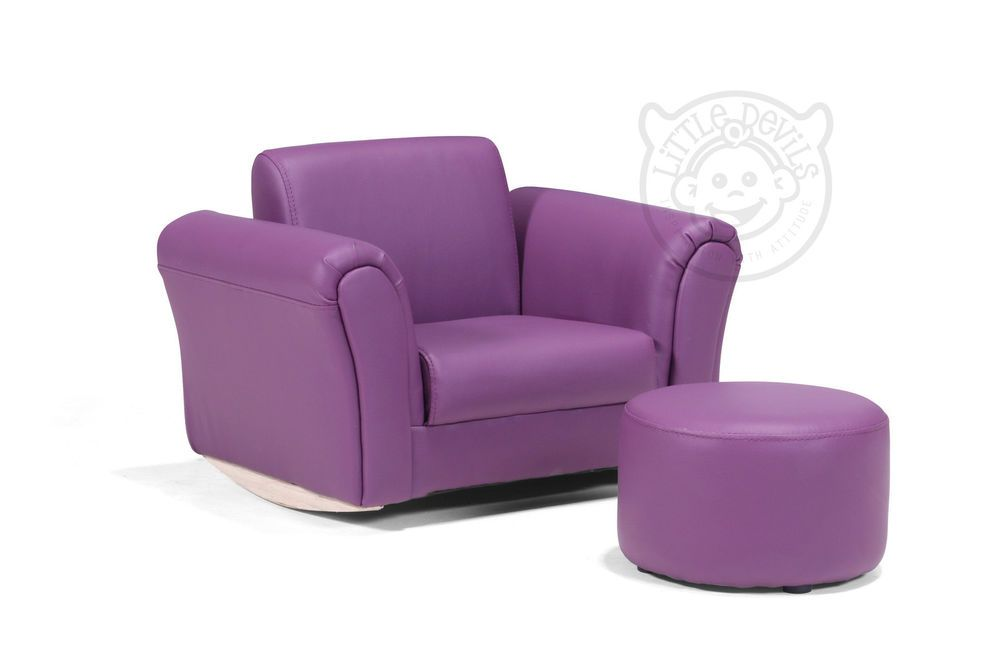 Purple Lazybones Kids Rocking Chair Seat Armchair Sofa For