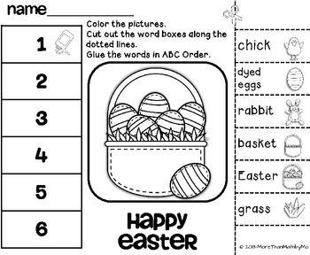 easter abc order cut and paste printable freebie easter easter april easter spring school. Black Bedroom Furniture Sets. Home Design Ideas