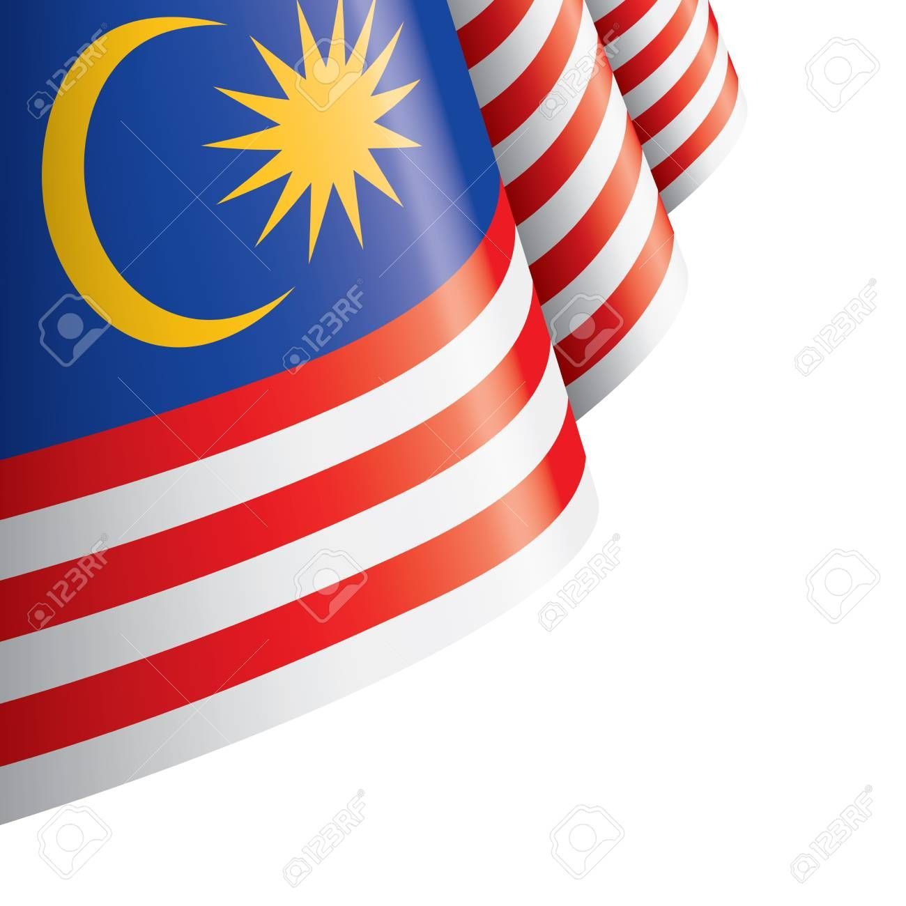 Malaysia Flag Vector Illustration On A White Background Spon