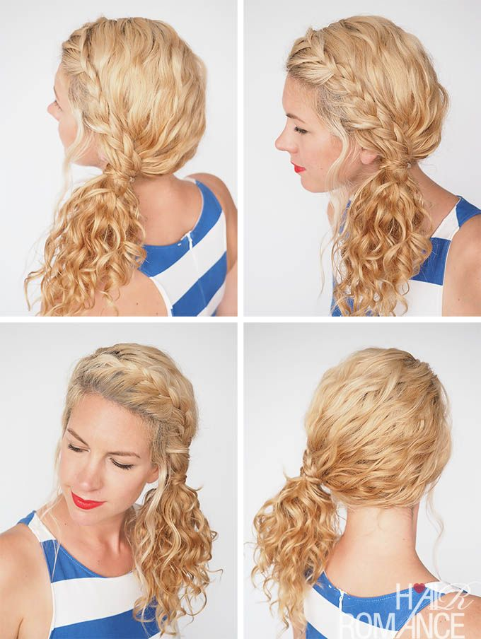 30 Curly Hairstyles In 30 Days Day 3 Curly Hair Ponytail
