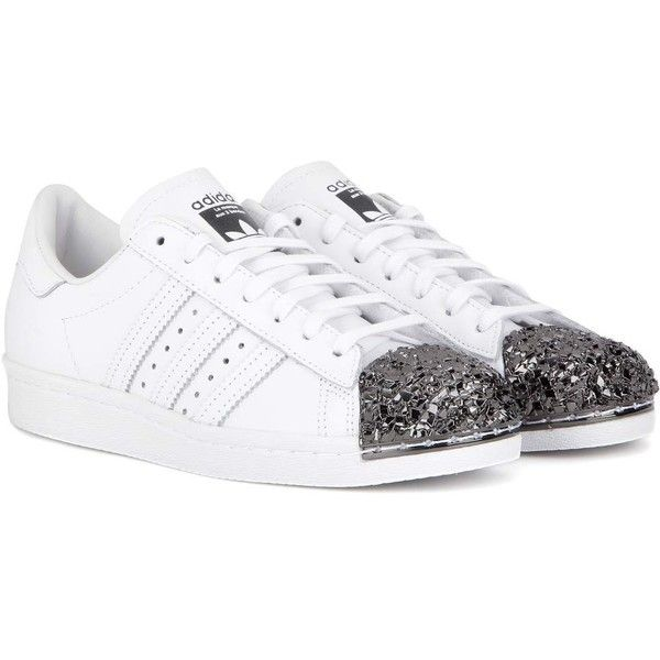 2160501d25c0 Adidas Originals Superstar 80s Metal Toe Leather Sneakers ( 170) ❤ liked on  Polyvore featuring shoes