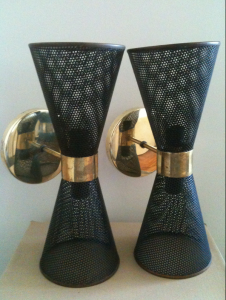 1950's wall sconces by Newton and Gray Pty Ltd, Australia.