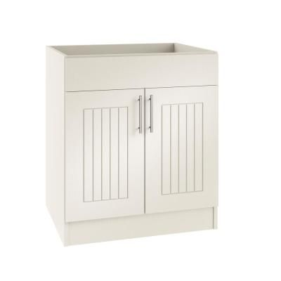 Weatherstrong Assembled 24x34 5x24 In Naples Island Sink Outdoor Kitchen Base Cabinet With 2 Doors In Radiant White Base Cabinets Kitchen Base Cabinets Sink In Island