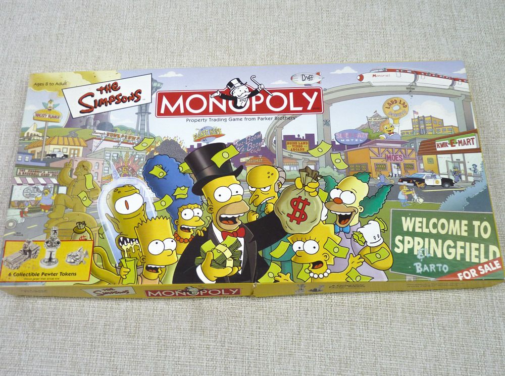 The Simpsons Monopoly SEALED Contents New 100 Complete