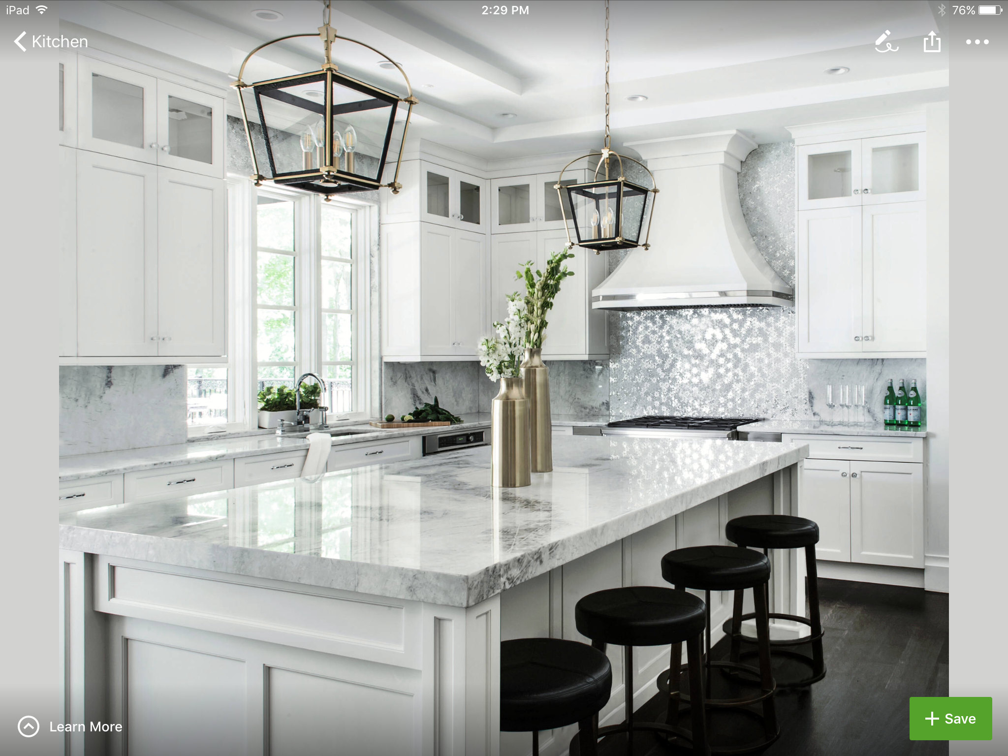 I liked the backsplash tiles and the island | HOME ♥ KITCHEN ...