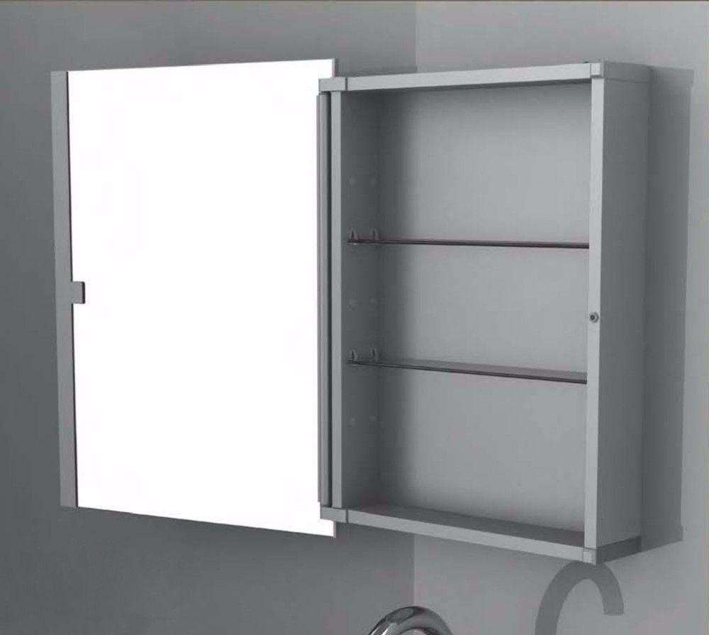 Espejo del ba o del gabinete de aluminio proyectos que for Gabinete de almacenamiento de bano de madera