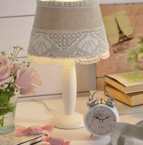 r aliser un abat jour shabby tuto autres bricoles pure loisirs avec de la toile de lin. Black Bedroom Furniture Sets. Home Design Ideas