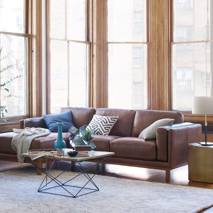 Dekalb Leather 2 Piece Chaise Sectional In 2020 Leather Sectional Leather Living Room Set Living Room Sets #raymour #and #flanigan #leather #living #room #sets