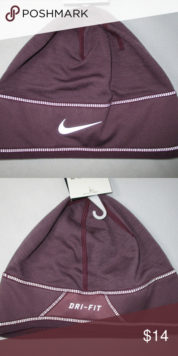 Nike- Women s Knit Running Cap- NWT Nike- Women s Knit Running Reflective  Purple Training 8b1572115855