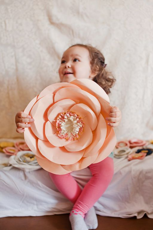 I think these huge paper flowers are so cool and fun! If you