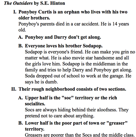 Example Of Literary Device In The Outsider Essay Podcast Advertising Starting A On Outsiders