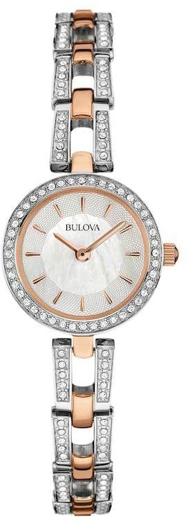 Bulova Women's Crystal Two Tone Stainless Steel Watch