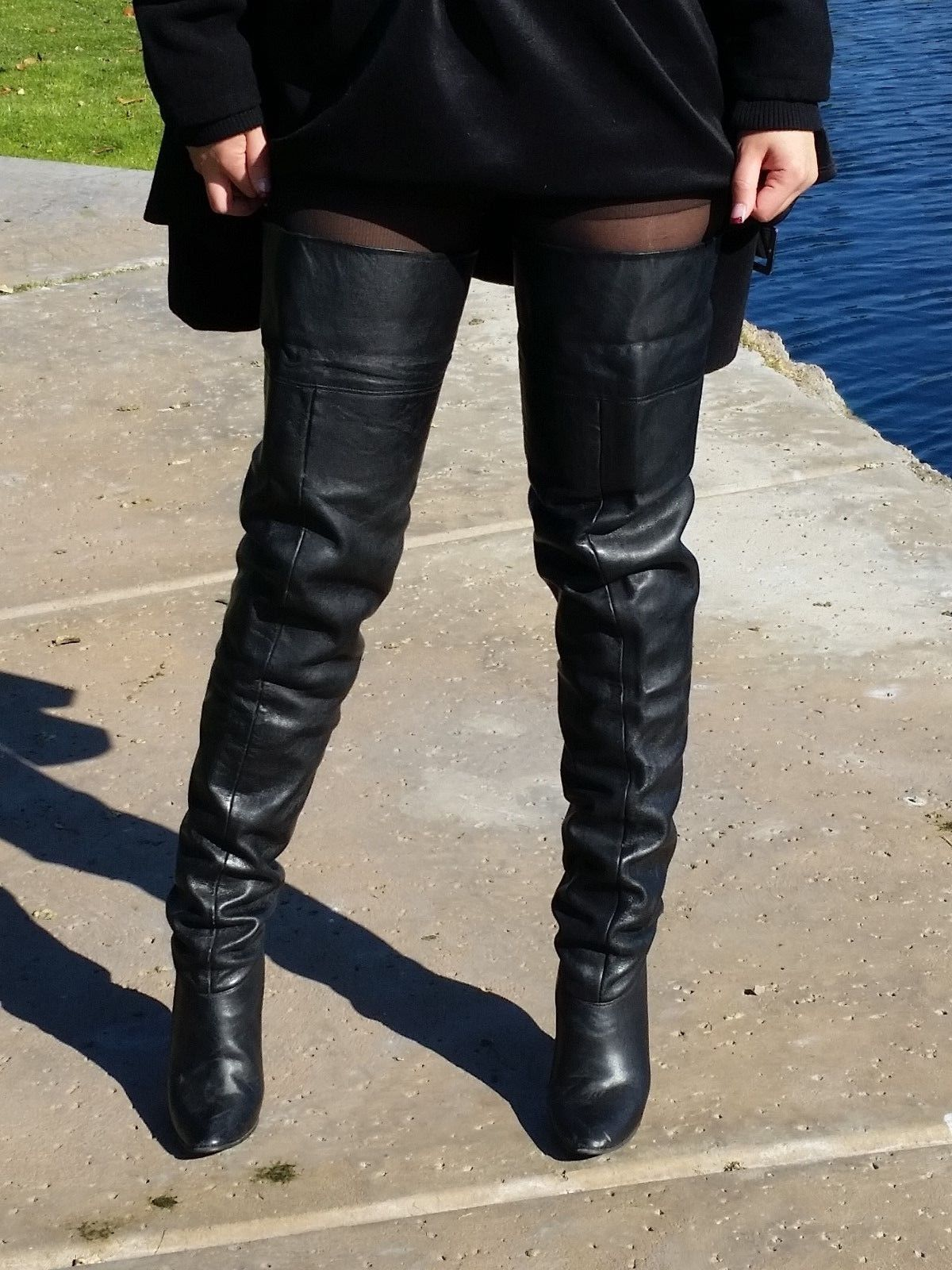 ebay leather vintage pair crotch high boots finally