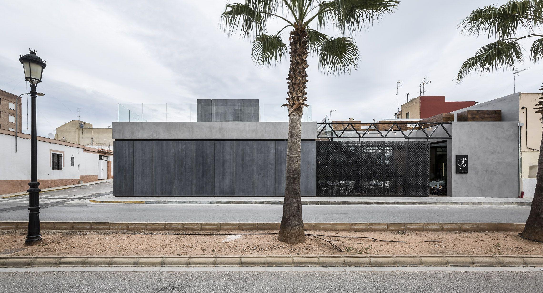 Fachada de viroc y microcemento facade made with viroc - Microcemento en mexico ...