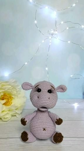 Crochet pattern Hippo Amigurumi animal