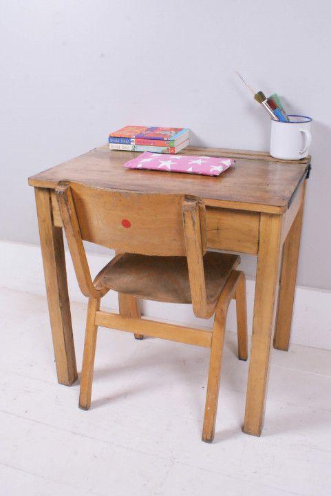 Antique School Desk Chair - Wall Decor Ideas for Desk simple home