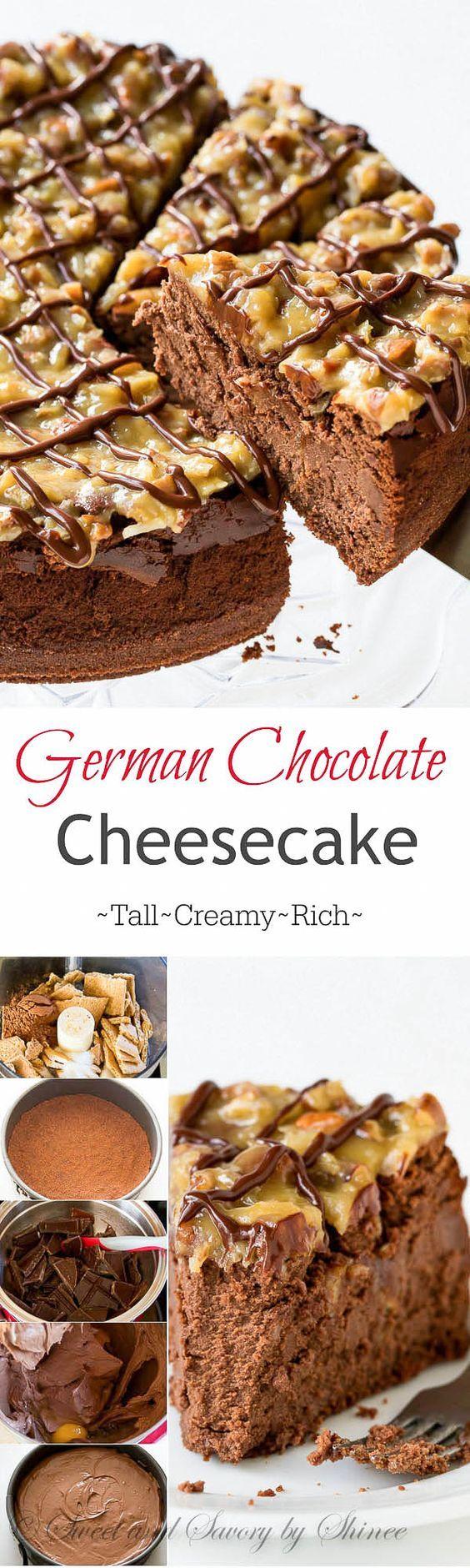 German Chocolate Cheesecake | Rezept | Kuchen, Brownies und Käsekuchen