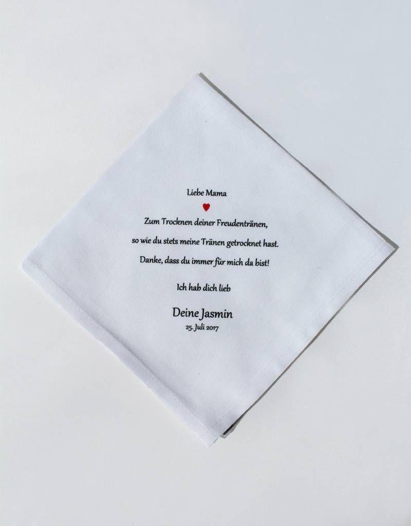 Taschentuch Mama Freudentranen Nadelspitze Taschentucher Liebe Mama Freudentranen