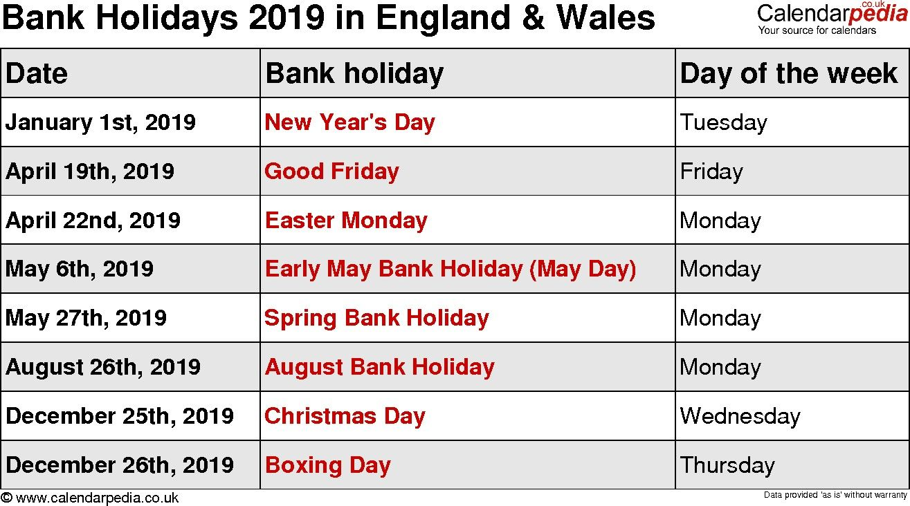 Awesome What Date Is Bank Holiday August 2019 And Description In 2020 Holiday Calendar Holiday August Holidays