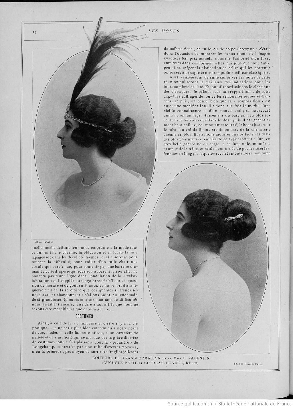Les Modes Paris 1920 Coiffure Et Transformation Hairstyle With False Hair Affichevacances Traveling By Yourself 1920s Hair Coiffure