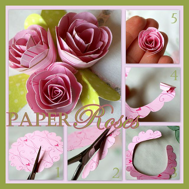 Love these paper roses
