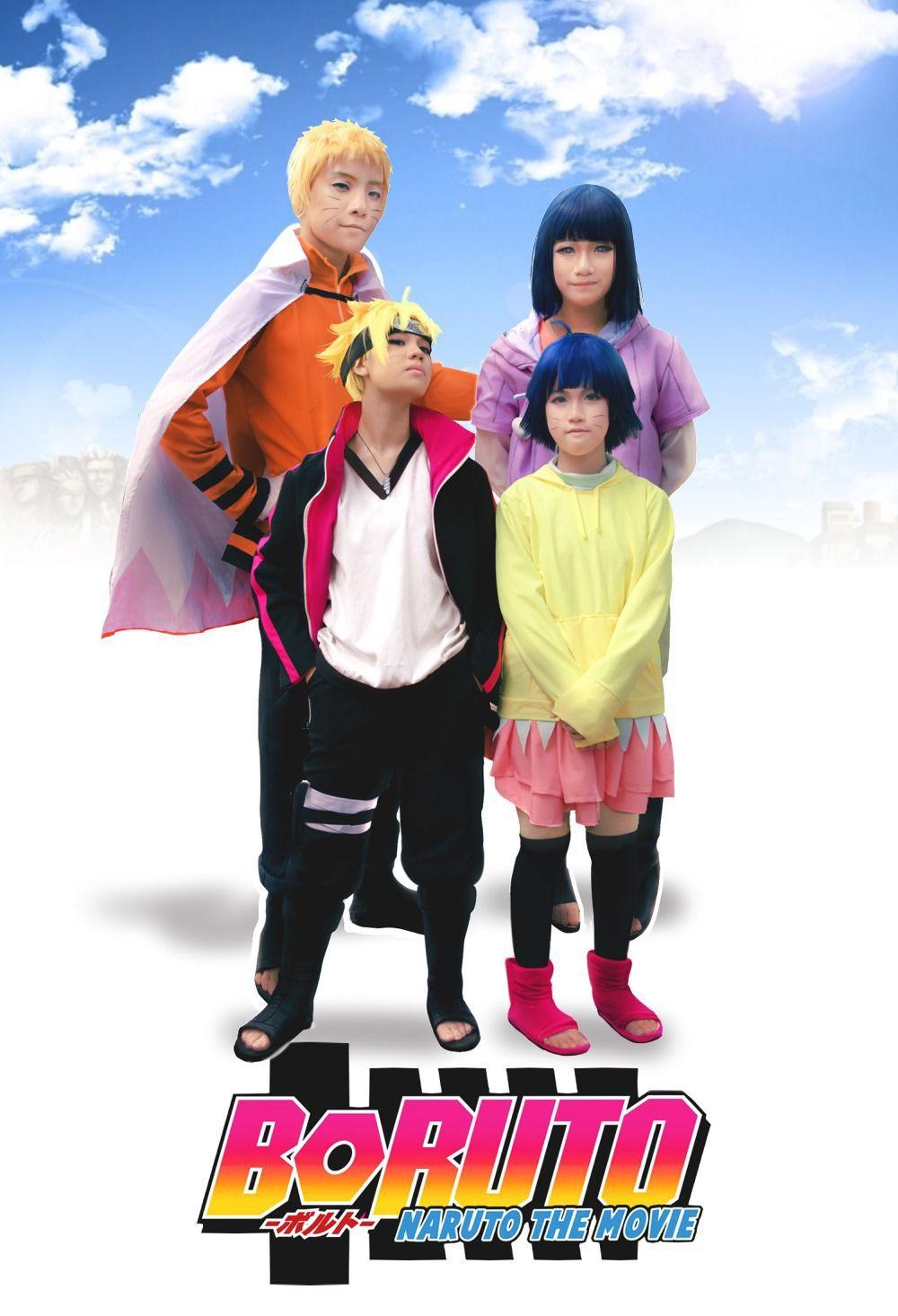 Naruto Boruto Uzumaki Himawari Cosplay Anime Costume Custom-made