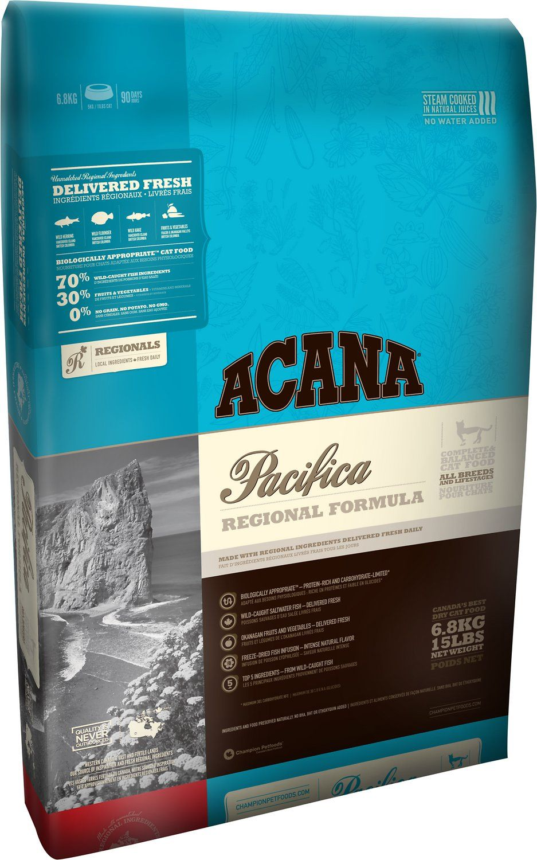 A review of the Acana 'Pacifica' regional formula dry cat