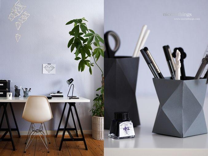 Diy Himmeli Working Space Ideas Origami Behlter Selbstgebastelt